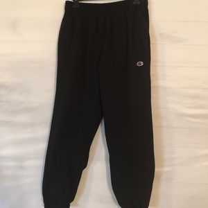 VTG Champion Black Cuffed Sweatpants Size L